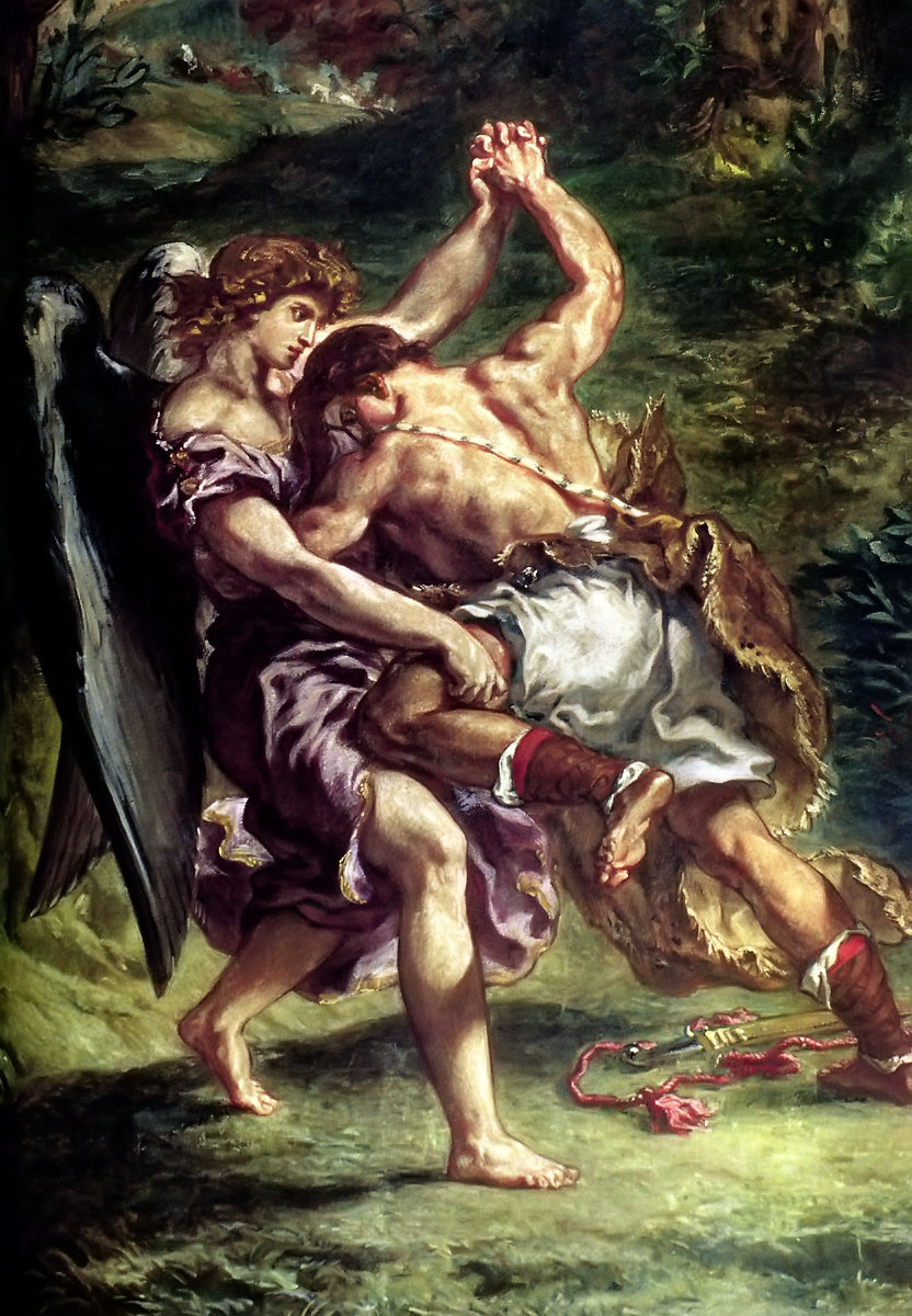 Jacob Wrestles with God by Delacroix