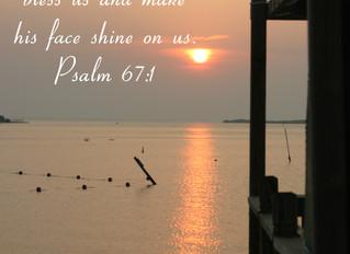 Psalm 67:1 Sunrise in Cedar Key
