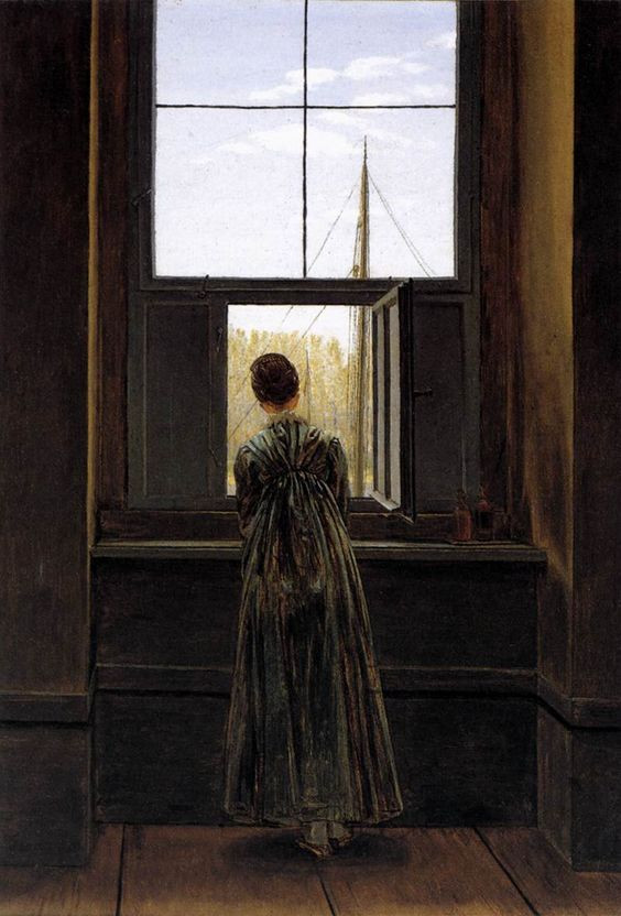 Painting by Casper David Friedrich (Woman at a Window)