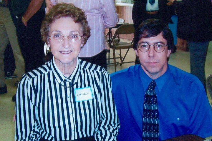 Van with our Mother at a church event, early 2000s