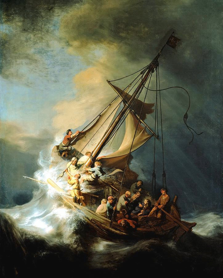 Rembrandt c. 1633, The Storm on the Sea of Galilee