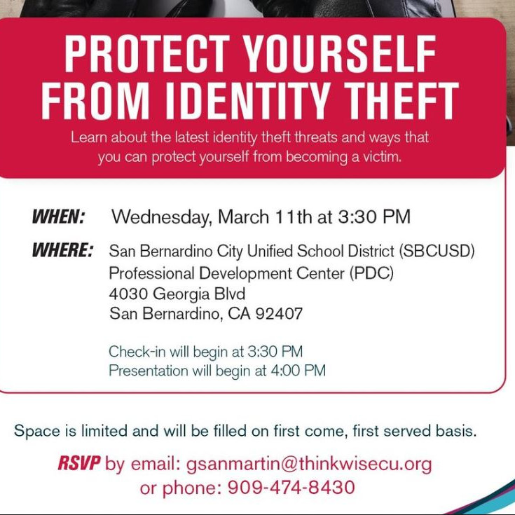 Thinkwise Credit Union Financial Academy - Protect Yourself From Identity Theft
