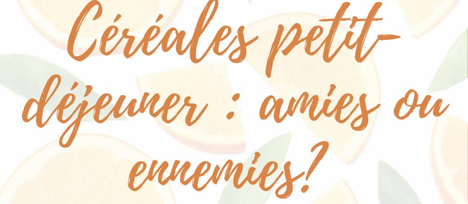 Céréales petit-déjeuner : amies ou ennemies?