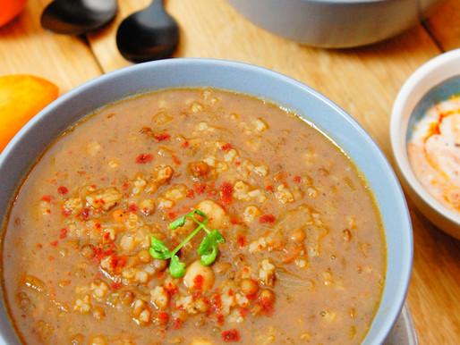 Harira : une soupe riche en légumineuses
