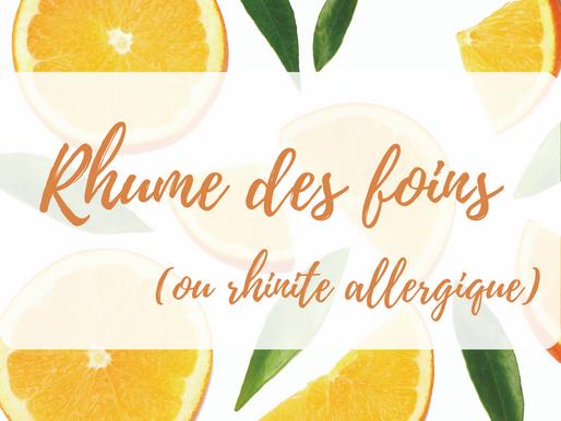 Rhume des foins, rhinite allergique ou allergies saisonnières : la nutrition peut-elle aider?
