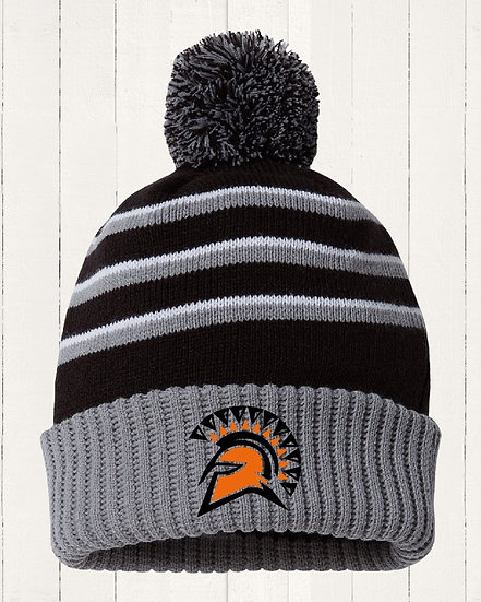 Striped PomPom Beanie