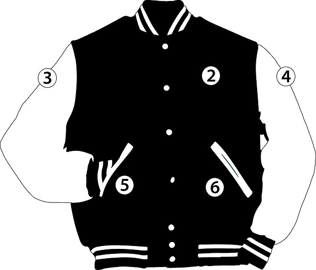 Additional Patch Sew-On Varsity Jacket