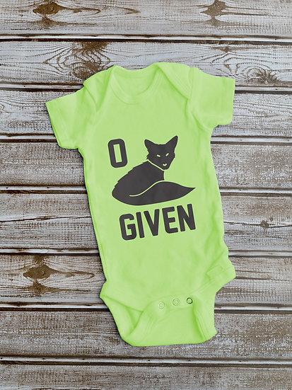 0 Fox Given Onesie