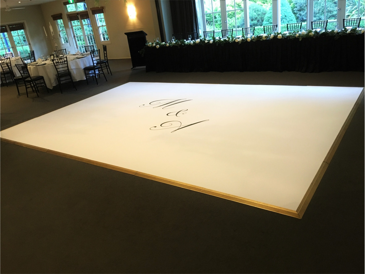 Wedding dance floor decals south coast • sprint signs • order online