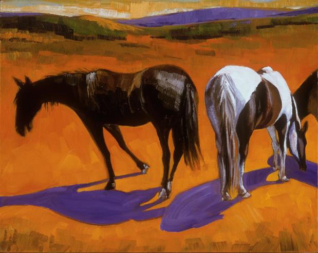 Horses in Orange
