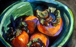 Persimmons in a Bowl