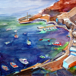 Oia Harbor, Santorini