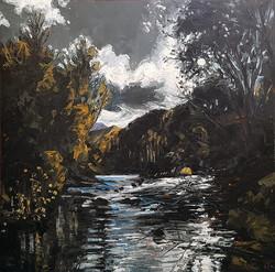 Frying Pan River, Moonlit