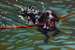 Zachary Dog-Paddling on the Big Rive