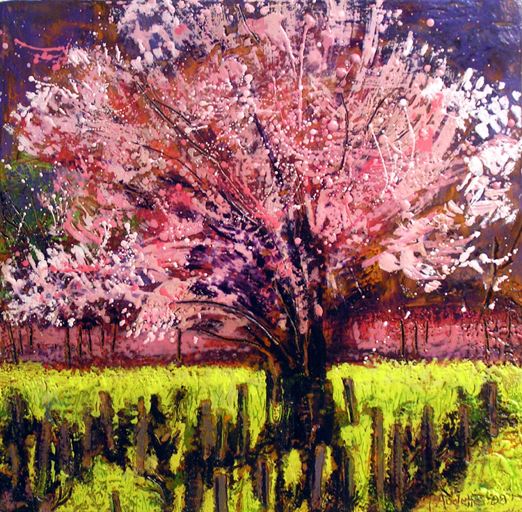 Cherry Tree with Mustard