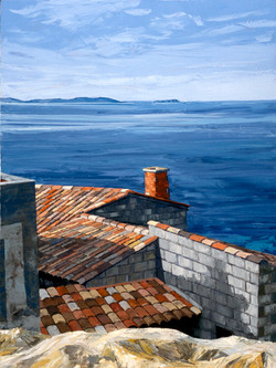 Rooftops over the Mediterranean