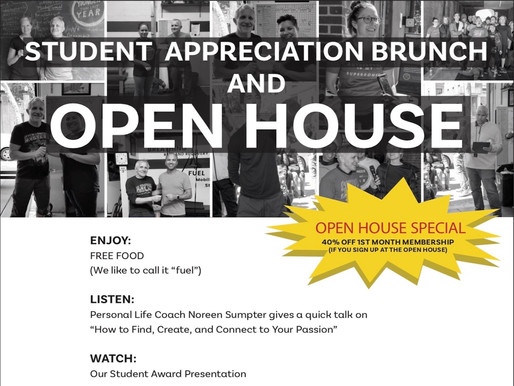 Student Appreciation Brunch and Open House – Saturday, Sept. 28, 12–1PM