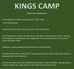 Kings Camp is around the corner!