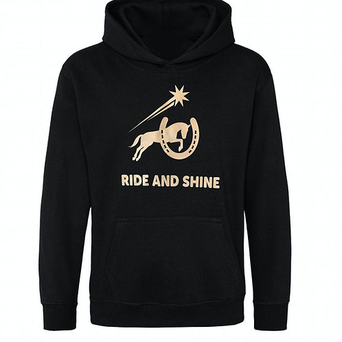 'RIDE AND SHINE'  CHILDRENS HOODIE