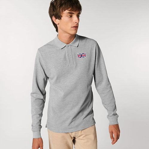 'THE MUDDY BRIT' MENS LONG SLEEVE POLO