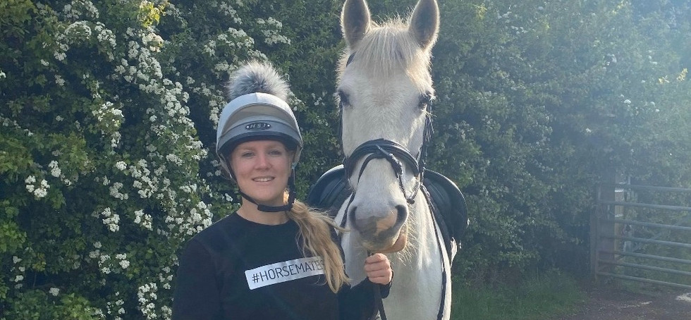 Tilly Gill in Horsemates Classic Sweater