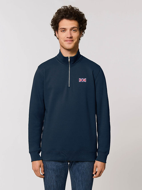 'THE MUDDY BRIT' 1/4 ZIP MENS SWEATER