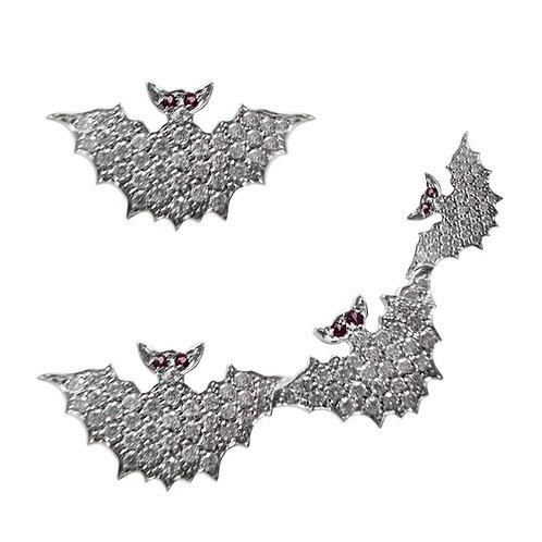Black eyes Four Bats Earrings