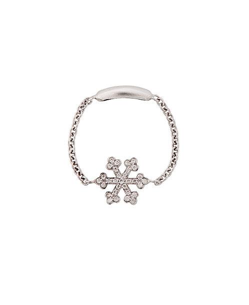 Mini White Gold Snowflake Ring