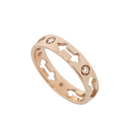 Rose Gold and Diamonds Ring