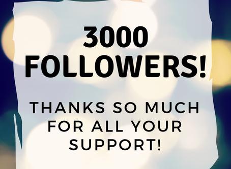3000 Instagram Followers!