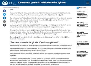 Anadolu Ajans Röportajı 2
