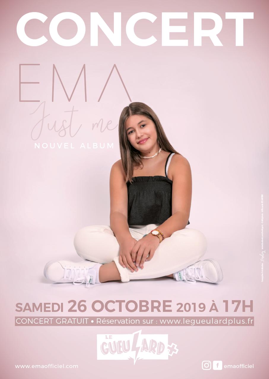 affiche ema concert just me 2019