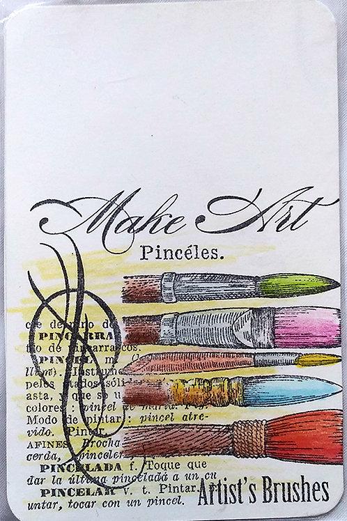 """Make art"" postcard"