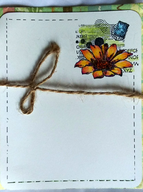 Yellow daisy postcard w/ envelope
