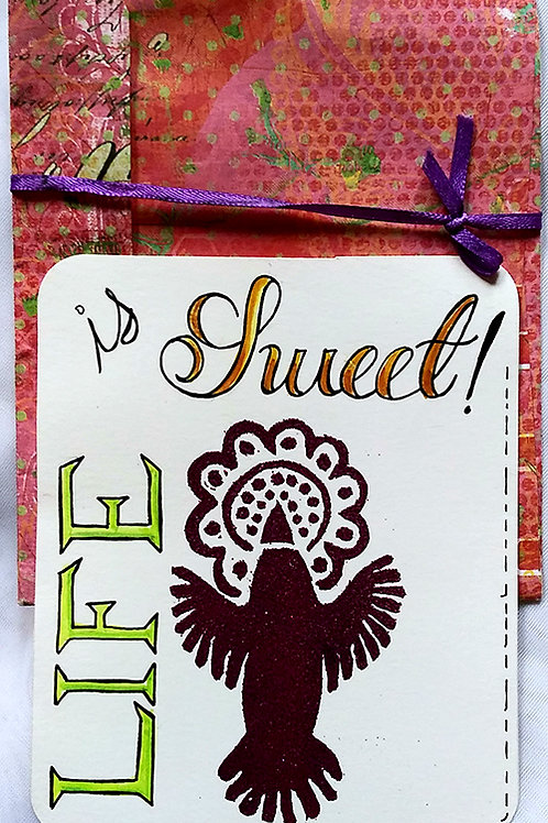 Sweet life postcard w/ envelope
