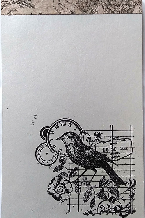 Notepad, poetic bird