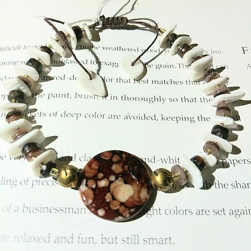 Bracelet, pinto shell love