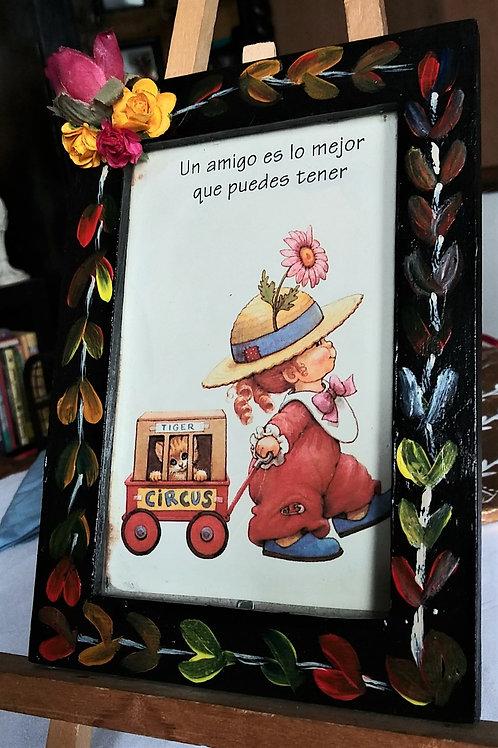 """""""Un amigo"""" vintage postcard"""