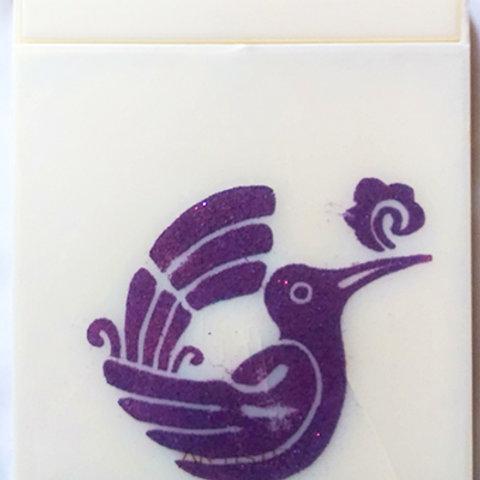 Hummingbird folding mirror, purple