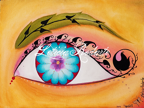 """In the eye of the beholder"" painting"