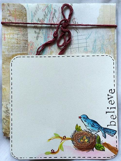 Belive bird postcard w/ envelope