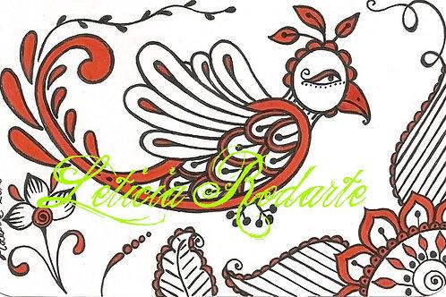 """""""Red bird"""" illustration"""