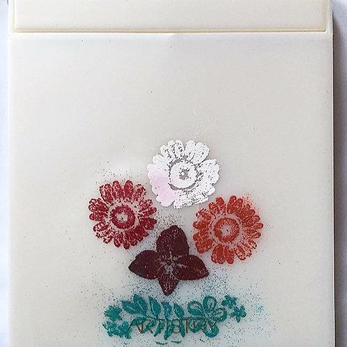 Flowers, folding mirror