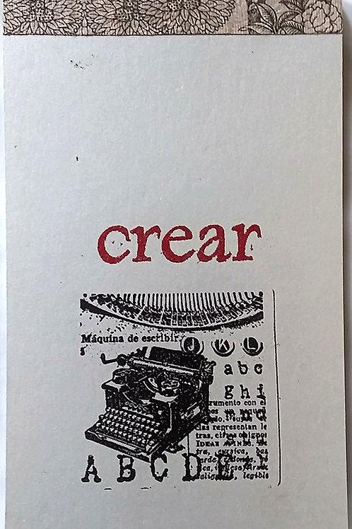 "Notepad, ""Crear"""