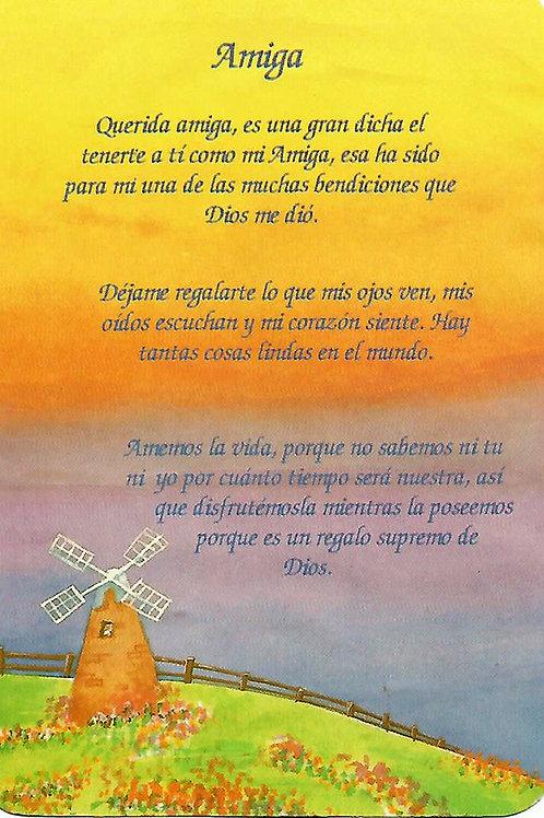 """""""Amiga"""" vintage postcard"""