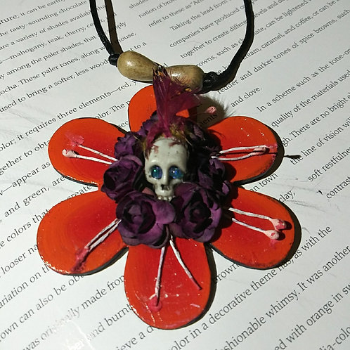 Necklace, day of the dead flower