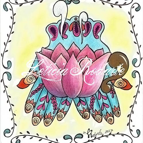 """""""Inner peace"""" illustration"""