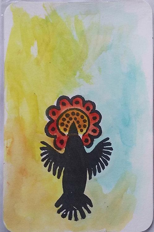 Postcard, Aztec hummingbird