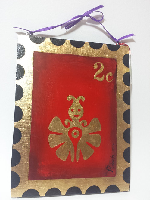 """Papalotl"" Aztec butterfly stamp (plaque)"