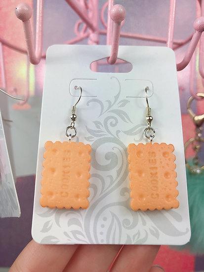 Cookie Dangle Hook Earrings